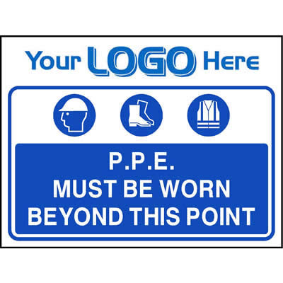 P.P.E. must be worn beyond this point (Quickfit)