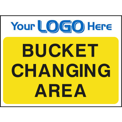 Bucket changing area sign