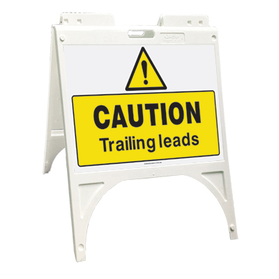 Caution - Trailing leads (Quik Sign)