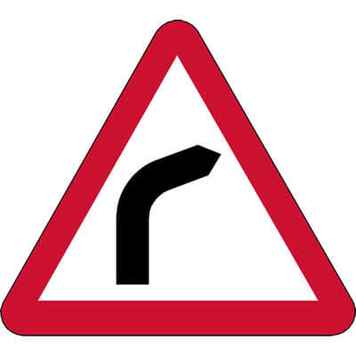 Bend ahead - Right