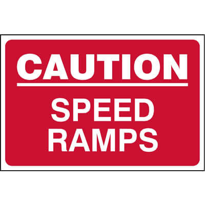 Caution - Speed ramps