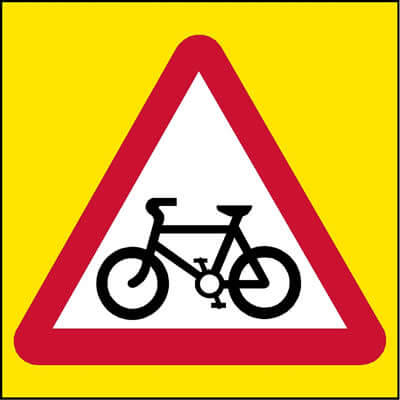 Cycle route ahead (Non-Spec)