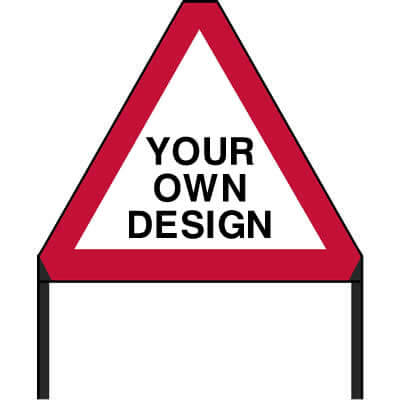 Custom Triangle Roadworks Sign