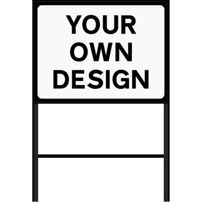 Custom Roadworks Sign (Black)