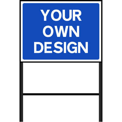 Custom Roadworks Sign Blue