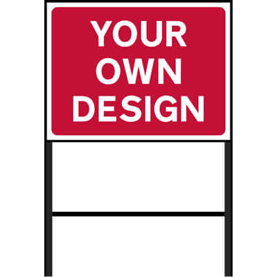 Custom Roadworks Sign Red