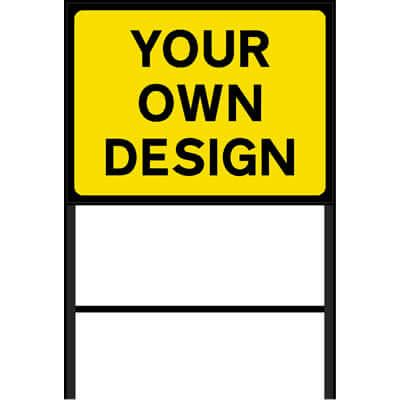 Custom Roadworks Sign Yellow