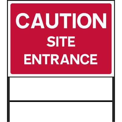 Caution - Site entrance (Temp.)