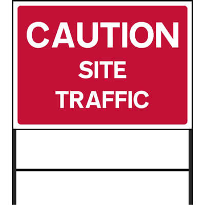 Caution - Site traffic (Temp.)