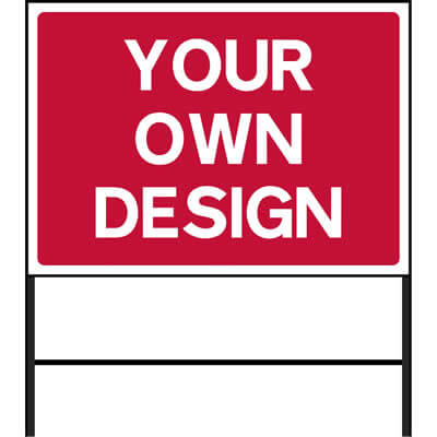 Custom Large Roadworks Sign (Red)