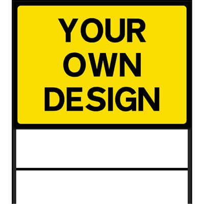 Custom Large Roadworks Sign Yellow