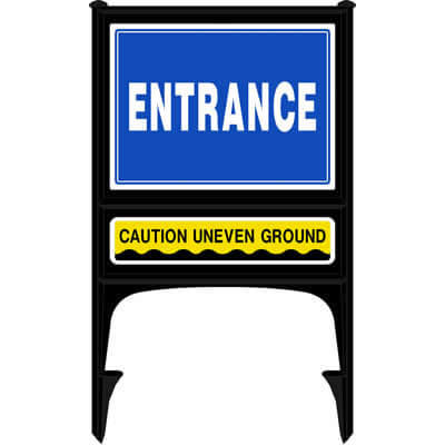 Entrance - Caution uneven ground (Realicade)