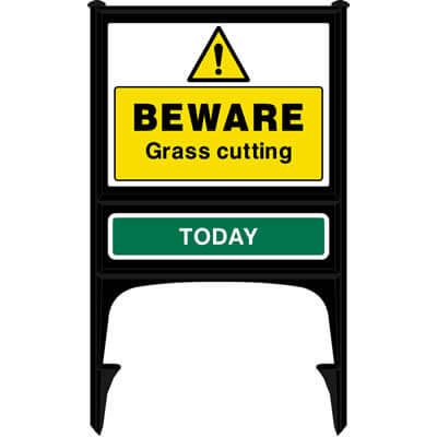 Beware - Grass cutting today (Realicade)