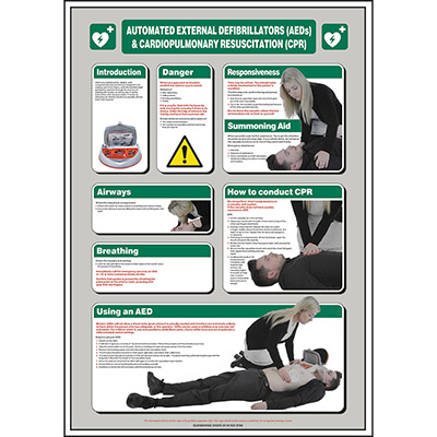 AEDs and CPR Poster