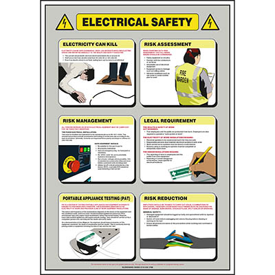 Electrical Safety Poster   Glendining Signs   Safety Signs