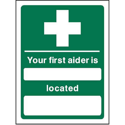 Your first aider is...