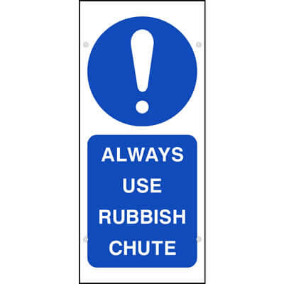 Always use rubbish chute (Scaffold Banner)