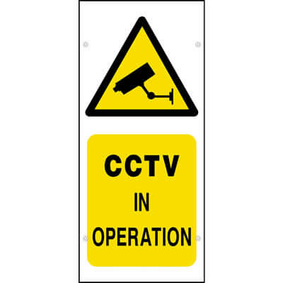 CCTV in operation (Scaffold Banner)
