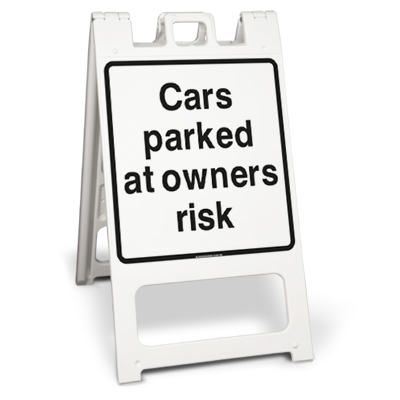 Cars parked at owners risk (Squarecade 45)
