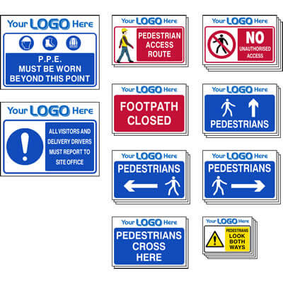 Pedestrian Route Sign Pack