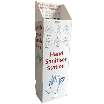 6 Step Hand Wash Sanitiser Station