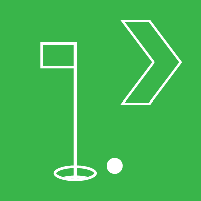 Directional Golf Signs
